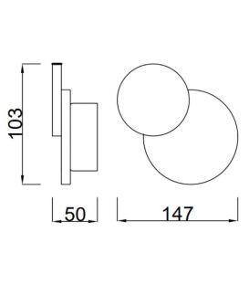 Sieninis šviestuvas TAHITI LED Circles