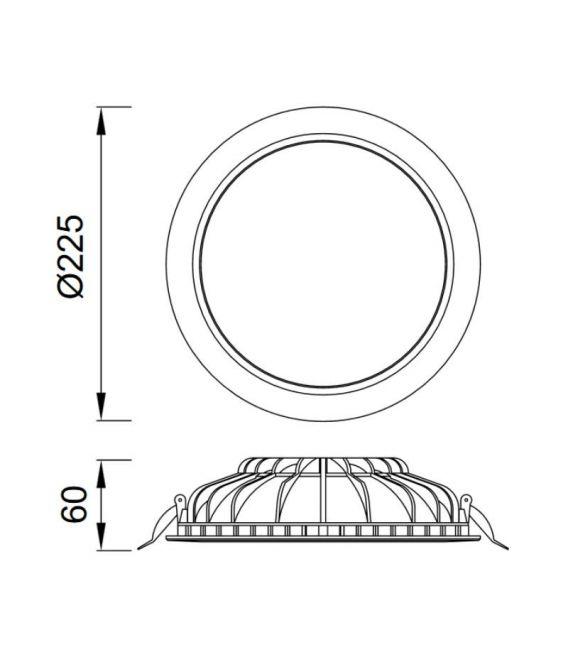 Įmontuojama LED PANELĖ CABRERA 24W [EPISTAR]