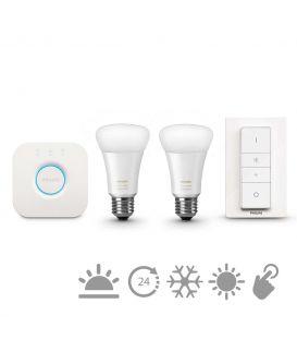 Philips HUE LED (kontrolieris + slēdzis + 2 E27 spuldzes) 871869654869