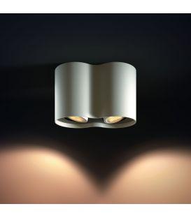 Griestu lampa PILLAR HUE 2 White + slēdzis 871869615928