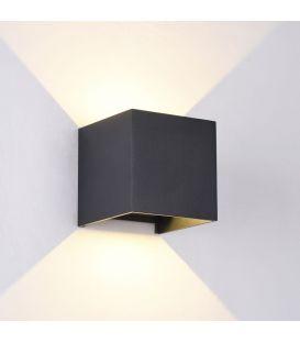 Sienas gaismeklis FULTON LED IP54 Square Black O572WL-L6B