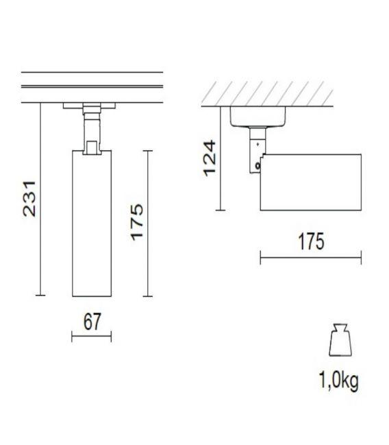 Apgaismojuma sistēma SPOT AND TRACK White 4109WH