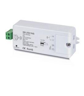 LED apgaismojuma vadības sistēmas uztvērējs 12-36V 1x8A 1 spalva SR-2501NS
