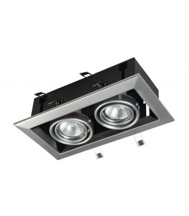 Iebūvējams gaismeklis METAL MODERN 2 Silver DL008-2-02-S