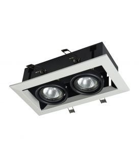 Iebūvējams gaismeklis METAL MODERN 2 White DL008-2-02-W