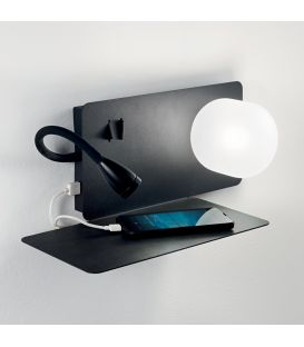 3W LED Sienas gaismeklis BOOK-1 AP2 NERO 174808