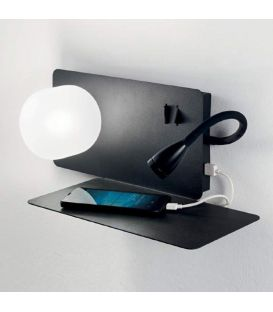 3W LED Sienas gaismeklis BOOK-2 AP2 NERO 174846