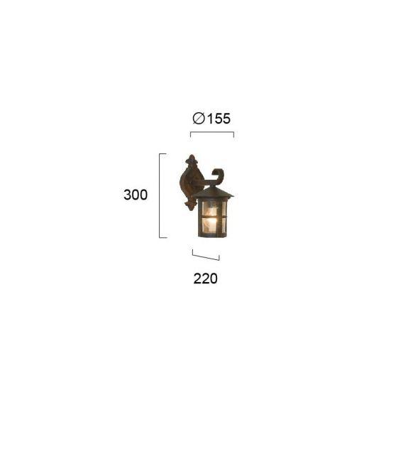 Sieninis šviestuvas SKIATHOS IP54 4056300