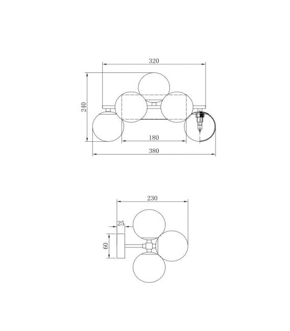 Sieninis šviestuvas DALLAS 13 Chrome MOD547WL-13CH