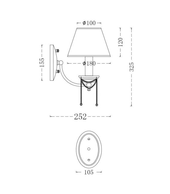 Sienas lampa CHESTER CL0100-01-R