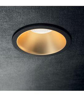 12W LED Iebūvējams gaismeklis GAME ROUND Black Gold 192345