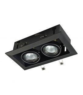 Iebūvējama lampa METAL MODERN 2 Black DL008-2-02-B