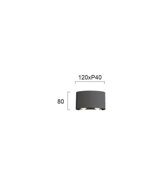 4W LED Sieninis šviestuvas TWIST Gray 4211001