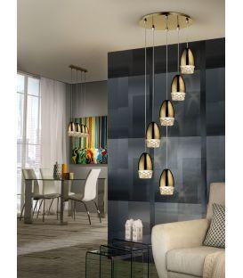 Piekarama lampa ALESSA 6 Gold 553616