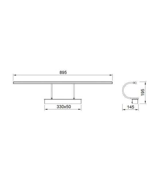 12W LED Sieninis šviestuvas PARACURU Chrome 6381
