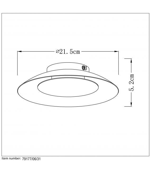 Griestu lampa FOSKAL LED Ø21,5 White 79177/06/31