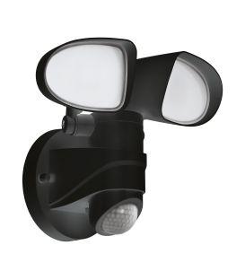 12W LED Gaismeklis ar kustības sensoru PAGINO Black IP44 98176