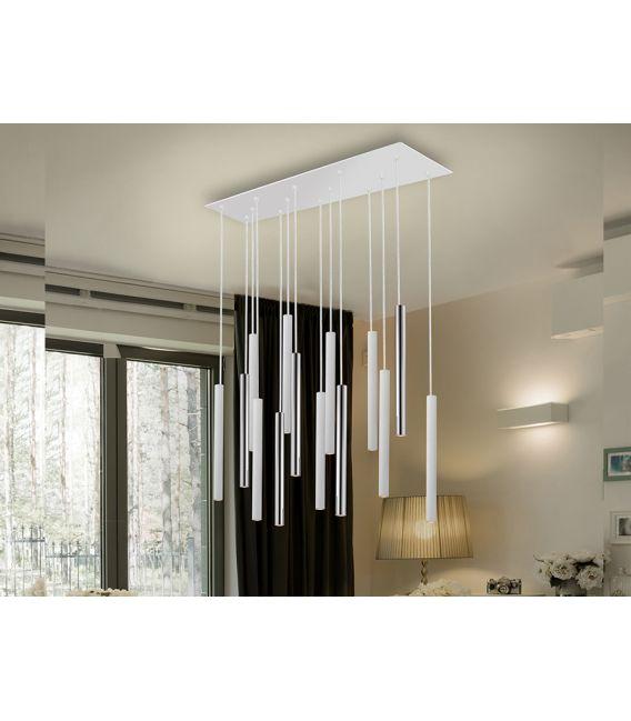 15W LED Sieninis šviestuvas VARAS White/Gold 373869