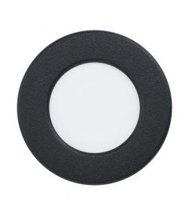 2,7W LED Iebūvējams LED panelis FUEVA Black Ø8.6 3000K 99142