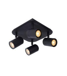Griestu lampa LENNERT 4 Black IP44 Dimmējama 26958/20/30