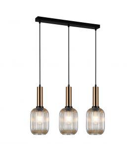 Piekarama lampa ANTIOLA Brass/Amber PND-5588-3M-BRO+AMB