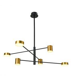 30W LED Piekarama lampa REMDAL PND-16374-6 BK+GD
