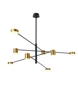 35.5W LED Piekarama lampa REMDAL PND-16374-8 BK+GD