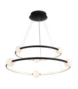 86W LED Piekarama lampa LOZANNA Black Dimmējama PND-20112035-2A-BL