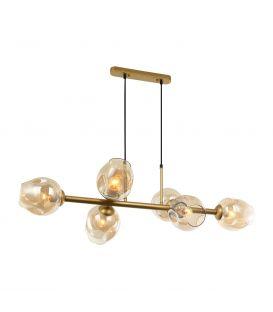 Piekarama lampa BORGO 6 Amber PND-30843-6 GD+AMB
