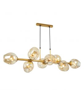 Piekarama lampa BORGO 8 Amber PND-30843-8 GD+AMB