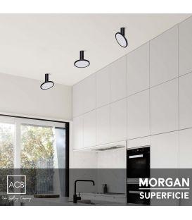 18W LED Lubinis šviestuvas MORGAN Black P384610N