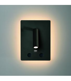 15W LED Sienas lampa MANAT Black A35680N