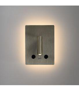 15W LED Sienas lampa MANAT Nickel A35680NS