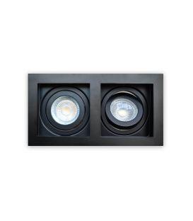 Iebūvējamā lampa GRID 2 Black DL-GRID2WB