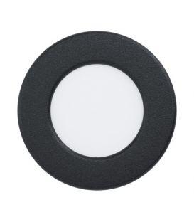 2.7W LED Lebūvējams panelis FUEVA 5 Black Ø8.6 4000K 99156