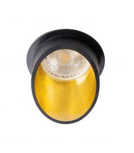 Įmontuojamas šviestuvas MINI RITI Black/Gold Ø8.5 27575