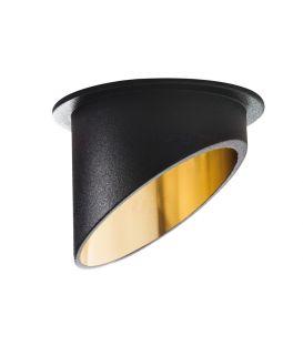 Iebūvējamā lampa SPAG Black/Gold Ø6.8 27324