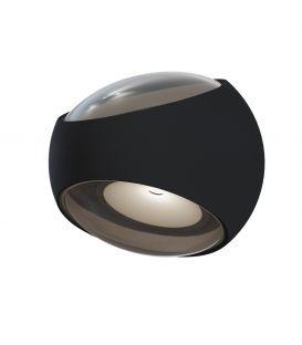 6W LED Sienas lampa STREAM Black 2 IP54 O032WL-L6B3K