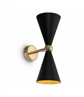 Sienas lampa Vesper Black with Gold MOD108WL-02GB