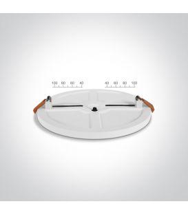 8W LED Įmontuojama panelė Round Ø10 3000K LPFR-08WX6-V