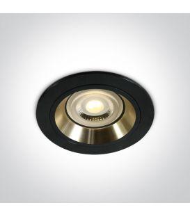 Iebūvējamā lampa DUAL RING Black 10105ALG/B/GL