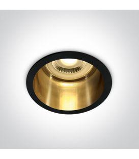 Iebūvējamā lampa SEMI TRIMLESS Black 10105D8/B/GL