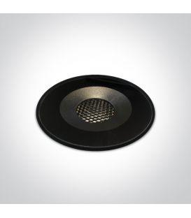 6W LED lebūvējama lampa Black IP65 69060/B/W
