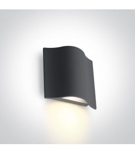 6W LED Sienas lampa Anthracite IP54 67422/AN/W