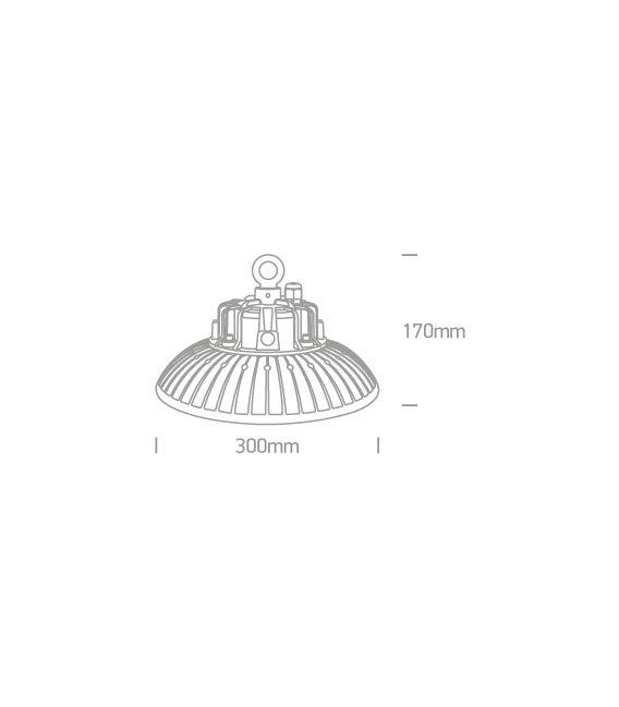 100W LED Lubinis šviestuvas IP65 Black 4000K 63100N/C