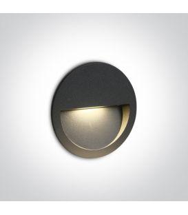 3W LED Iebūvējamā lampa Anthracite IP65 3000K 68068/AN/W