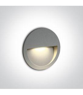 3W LED Iebūvējamā lampa Grey IP65 3000K 68068/G/W