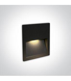 4W LED Iebūvējamā lampa Black IP65 3000K 68068A/B/W
