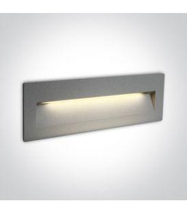 7W LED Iebūvējamā lampa Grey IP65 3000K 68068C/G/W