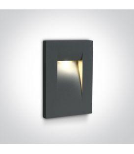 3.6W LED Iebūvējamā lampa Anthracite IP65 3000K 68062/AN/W